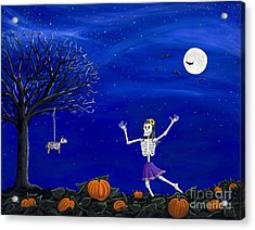 Dancing In The Pumpkin Patch  Acrylic Print