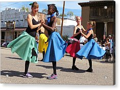 Dancing In The Streets Acrylic Print by Feva  Fotos