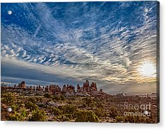 Dancing Light And Clouds 3 Acrylic Print by Scotts Scapes