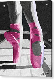 Dancing On Pink Satin Acrylic Print by Lance  Kelly