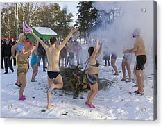 Dancing On The Snow Acrylic Print by Aleksandr Volkov