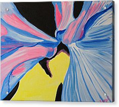 Acrylic Print featuring the painting Dancing Petals by Meryl Goudey