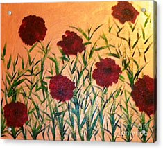 Dancing Poppies Acrylic Print