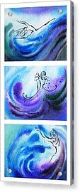 Dancing Water V Acrylic Print by Irina Sztukowski