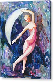 Dancing With The Moon Acrylic Print