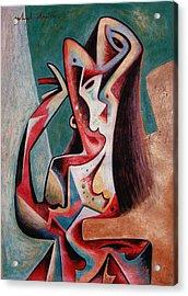Dancing Woman Acrylic Print by Ashish Das