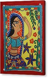 Dancing Woman Acrylic Print by Shakhenabat Kasana