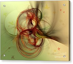 Dancing Wood Spirit Acrylic Print by Jutta Maria Pusl