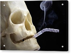 Dangers Of Smoking, Conceptual Image Acrylic Print by Victor De Schwanberg