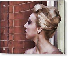 Dangling Earring Acrylic Print by Alice Gipson