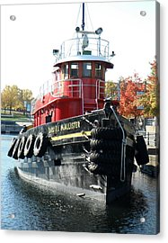 Daniel Mcallister Tug Boat Old Port Montreal Canada Acrylic Print by Rosie Brown