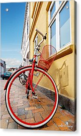 Danish Bike Acrylic Print by Robert Lacy