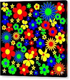 Danish Flowers Flora Danica Square Acrylic Print by Asbjorn Lonvig