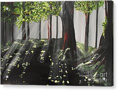 Dappled Forest 1 Acrylic Print by Jayne Kerr