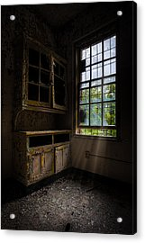 Dark And Empty Cabinets Acrylic Print by Gary Heller