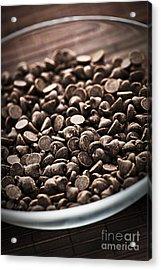 Dark Chocolate Chips Acrylic Print by Elena Elisseeva