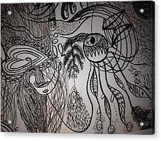 Dark City Love Acrylic Print by Ivy T Flanders