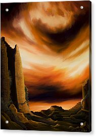 Dark Columns Acrylic Print by James Christopher Hill