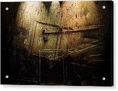 Dark Door Acrylic Print by Janet Kearns