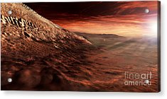 Dark Dunes March Along The Floor Acrylic Print by Steven Hobbs