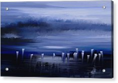 Acrylic Print featuring the painting Dark Mist by Eleonora Perlic