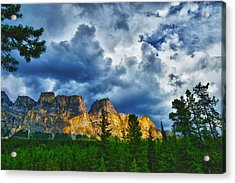 Dark Morning Clouds Acrylic Print by Rick Bragan