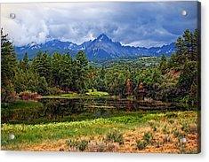 Dark Mountain Lake Acrylic Print