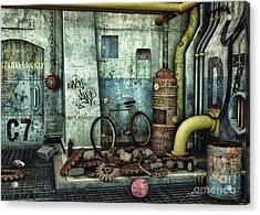 Dark Places Tell Stories Acrylic Print by Jutta Maria Pusl