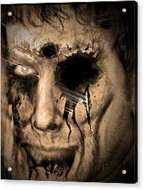 Dark Portrait Acrylic Print by Beto Machado