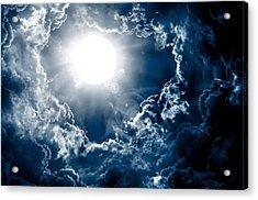 Dark Sky With Sun Acrylic Print by Nattapon Wongwean