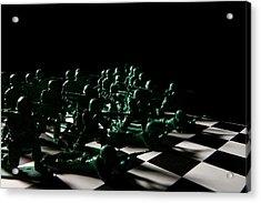 Dark Squares Acrylic Print by Lon Casler Bixby