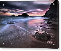 Dark Sunrise On Hidden Bay Acrylic Print by Danyssphoto