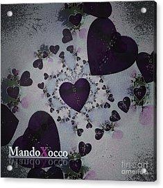 Dark Violet Acrylic Print