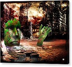 Dark Worlds 2 Acrylic Print by Wendy White