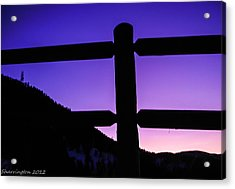 Acrylic Print featuring the photograph Darkening Sky by Shannon Harrington