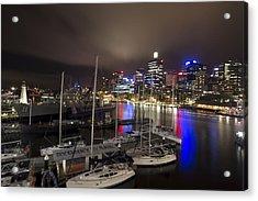 Darling Harbor Sydney Skyline 2 Acrylic Print by Douglas Barnard