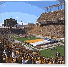 Darrell K Royal Texas Memorial Stadium Color 16 Acrylic Print by Scott Kelley