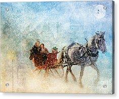 Dashing Through The Snow  Acrylic Print by Elaine Manley