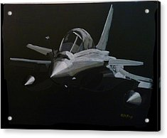Acrylic Print featuring the painting Dassault Rafale by Richard Le Page