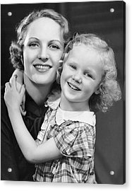 Daughter W/ Arm Around Mother Acrylic Print by George Marks
