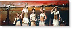 Daughter's Of Eve Acrylic Print by Jacque Hudson