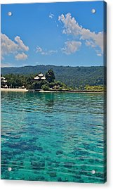 Davao Above And Below Acrylic Print by Arj Munoz