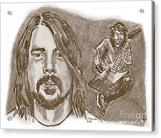 Dave Grohl Acrylic Print by Chris  DelVecchio