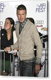 David  Beckham At Arrivals For Lions Acrylic Print