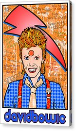 David Bowie Acrylic Print by John Goldacker