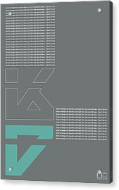 David Carson Poster Acrylic Print by Naxart Studio
