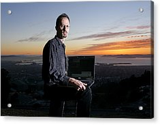 David P. Anderson, Us Computer Scientist Acrylic Print by Volker Steger