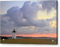 Dawn At Long Point Lighthouse Acrylic Print by Roupen  Baker