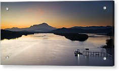 Dawn At Mengkabong River Acrylic Print