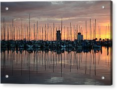 Dawn At The Marina Acrylic Print